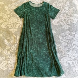 LuLaRoe Green Distressed Jessie Dress